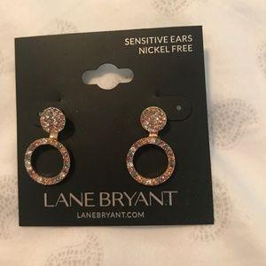 Lane Bryant Rose Gold earrings